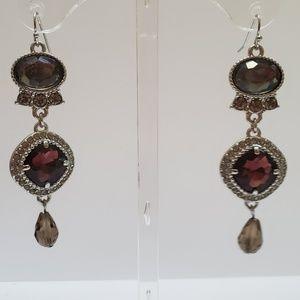 Lia Sophia Jewel Tone Statement Earrings